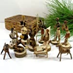 Nativity Set Handmade in Kenya From B...