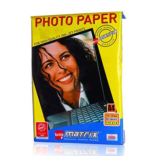 Bilt Matrix Photo Glossy Paper - A4, 130 GSM, 50 sheets@248