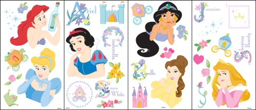 Blue Mountain Wallcoverings GAPP1741 Princess Original Self-Stick Wall Appliqués