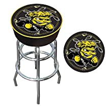 Wichita State University Padded Bar Stool - Game Room Products Pub Stool NCAA - Colleges