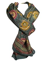Anokhi 100% Cotton Voile Ancient Floral Fashion Scarf