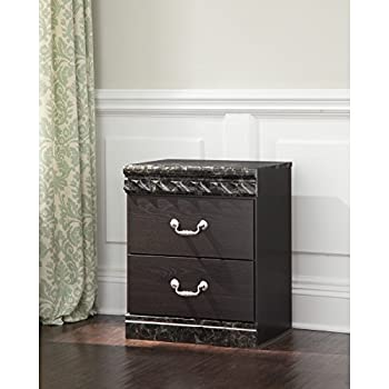 Signature Design by Ashley B264-92 Vachel Collection Nightstand, Dark Brown