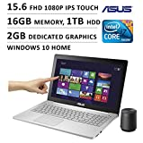 2016 Newest ASUS Flagship Premium High Performance 15.6 inch FHD 1080P Touchscreen Gaming Laptop, Intel Quad Core i7 Processor, 16GB Memory, 1TB HDD, Dedicated 2GB GTX 950M Graphics, DVD, Windows 10
