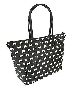 Kate Spade Grant Street Adaira Baby Bag, Black / Cream Bows from Kate Spade New York