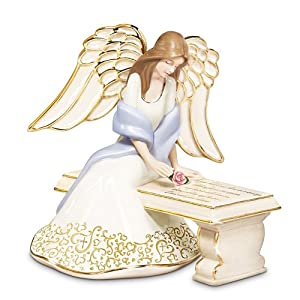 With You Always Collectible Porcelain Angel Figurine by The Bradford Exchange