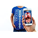 Curiscope Virtuali-Tee Educational Augmented Reality T-Shirt Children: XL (12-14) Blue (Color: Blue, Tamaño: Children: XL (12-14 Years))
