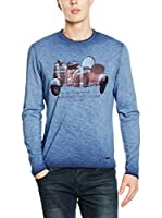 SIDECAR Camiseta Manga Larga Diaz (Azul)