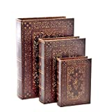 Old World Book Box Collection, Set of 3 Book Box, flux bookSet of three 13,10, 7 inches