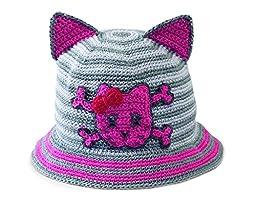 San Diego Hat Baby-girls Newborn Cat Ear Hat, Pink, 6-12 Months
