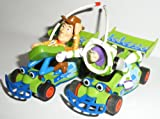 Micro Pair of Toy Story cars- Buzz Lightyear & Sheriff Woody 1:64 Scale Slot Cars