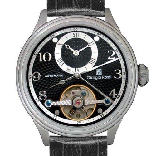 [ジョルジオ ロッシ]Giorgio Rossi 腕時計 GR0003-BK トゥールビヨン風/ツイン時計 メンズ [正規輸入品]