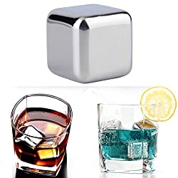Reusable 304 Stainless Steel Whiskey Cooler Stones Ice Cubes Chillers Drink SL