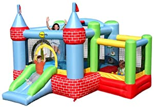 Childrens Fun Outdoor Bouncy Castle - Duplay Inflatable Bouncer With Slide and Ball Pit