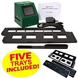 Wolverine F2D14 14 MP 35mm Slides and Negatives to Digital Image Converter (Includes 5 Total Trays: 4 Silde Trays & 1 Negative Film Tray) 110V-220V