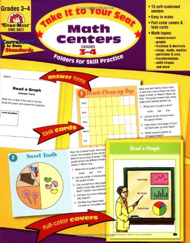 Take It to Your Seat Math Centers, Grades 3-4 (Math Learning Centers compare prices)