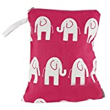 Logan + Lenora Waterproof Wet Bag 'Pink Elephant' Medium
