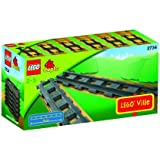 Duplo - 2734 - Jeu de construction premier âge - Train - 6 rails droits