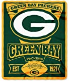 """NFL Green Bay Packers Marque Printed Fleece Throw, Green, 50 x 60"""""""