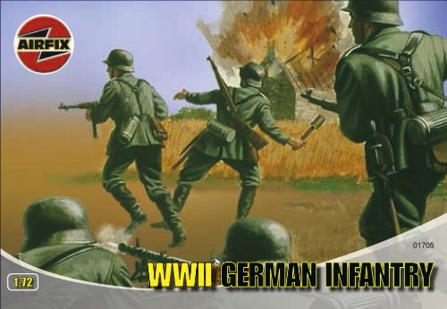 Buy Low Price Hornby Airfix A01705 1:72 Scale WWII German Infantry Figures Classic Kit Series 1 (B0002HZVO6)