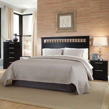 Standard Furniture Atlanta 3 Piece Headboard Bedroom Set in Ebony Black