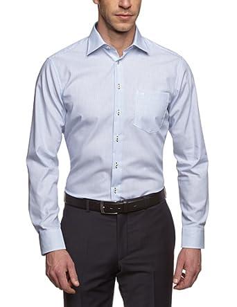 Seidensticker Herren Regular Fit Businesshemd KENT SPECIAL CUFF 185868, Gr. XX-Large (Herstellergröße: 46), blau