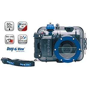 Underwater Digital Camera Bundle Explorer : Underwater Camera Nikon S3600 Blue + Underwater Housing Deep View 263 Feet