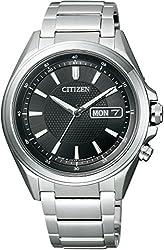 [シチズン]CITIZEN 腕時計 ATTESA アテッサ Eco-Drive電波  エコ・ドライブ電波 デイ&デイトモデル ディスク式3針デイ&デイト AT6040-58E メンズ