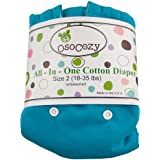 Osocozy All in One Cloth Diaper, Aqua, Large