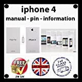 Iphone4 4 Finger Tips User Guide Manual, start Information, Ejector Pin, Sticker