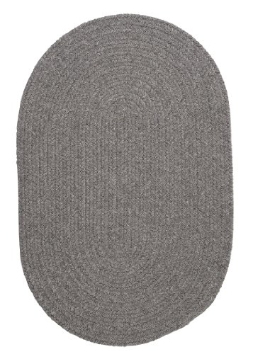 Bristol Polypropylene Braided Rug, 2-Feet by 4-Feet, Gray