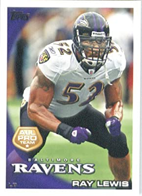 2010 Topps NFL Football Card #25 Ray Lewis AP - Baltimore Ravens (All Pro) NFL Trading Card