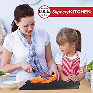 "Kitchen Cutting Board, Black, 15""x10"" Eco-Friendly Chef-Grade Quality. Dishwasher Safe"