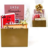80th Birthday Gift Basket - Live Your Life - with 1934 Trivia Booklet