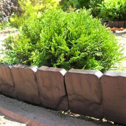 Cordolo bordura da giardino di plastica resistente 2 5 m for Bordura giardino