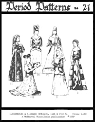 Women's Cotehardies and Sideless Surcoats Pattern