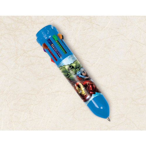 "Amscan The Avengers Birthday Party Favor 10-Color Retractable Ball Pen (1 Piece), Multi, 3 3/4"" - 1"