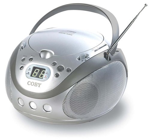 Coby CX-CD241 Portable CD Player with AM/FM Stereo Tuner, Silver