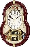 Small World(リズム時計) 【メロディ付電波時計】 スモールワールドコンチェルDX 《日本組立》 茶メタリック色 4MN495RH06