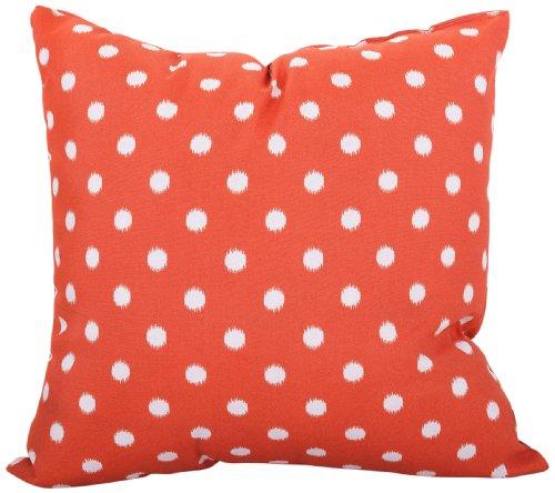 Majestic Home Goods Ikat Dot Pillow, Large, Orange