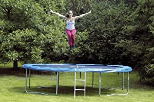 hudora trampolin ohne sicherheitsnetz 426 cm 4 f e belastb bis 150 kg sport. Black Bedroom Furniture Sets. Home Design Ideas