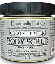 All Natural Coconut Milk Body Scrub by Essentially KateS