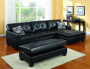 Randall chaise sofa sectional storage ottoman for Amazon sectional sofa with chaise