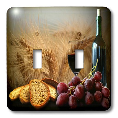 Fruit Food - Wine Bread Grapes - Light Switch Covers - double toggle switch (lsp_14294_2) (Grape Light Switch Cover compare prices)