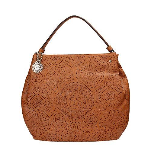 SCERVINO Street Large Hobo Bag PAULINE Brown
