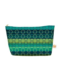 "Kess In House Everything Bag, Tapered Pouch, Nina May ""Denin Diamond Gradient Green"" Turquoise Emerald, 8.5 X..."