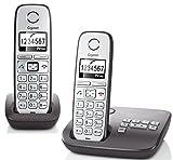 Gigaset E310A Duo Dect-Großtasten-Schnurlostelefon mit Anrufbeantworter  anthrazit