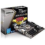 Asrock B75 PRO3-M Mainboard Sockel 1155 (Intel B75, 4x DDR3 Speicher, ATX, 2x PCI-e, 2x USB 3.0)