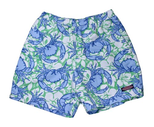 Vineyard Vines Mens Chappy Swim Trunks Crab & Flowers Wasabi