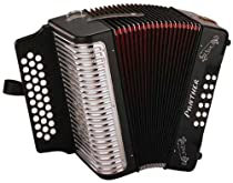 Hohner Panther Diatonic Accordion (Black, G, C, F Key Combination)