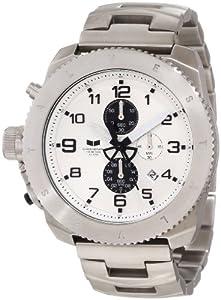 Vestal Men's RES007 Restrictor Silver White Black Chronograph Watch